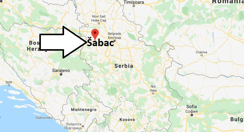 Where is Šabac Located? What Country is Šabac in? Šabac Map