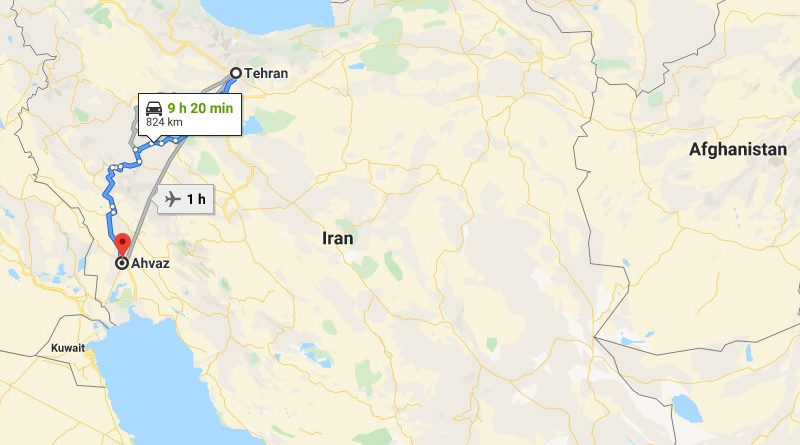 Where is Ahvaz Located? What Country is Ahvaz in? Ahvaz Map