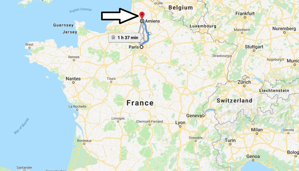 Where is Amiens Located? What Country is Amiens in? Amiens Map