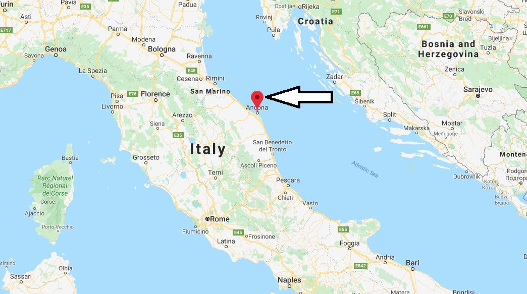 Where is Ancona Located? What Country is Ancona in? Ancona Map