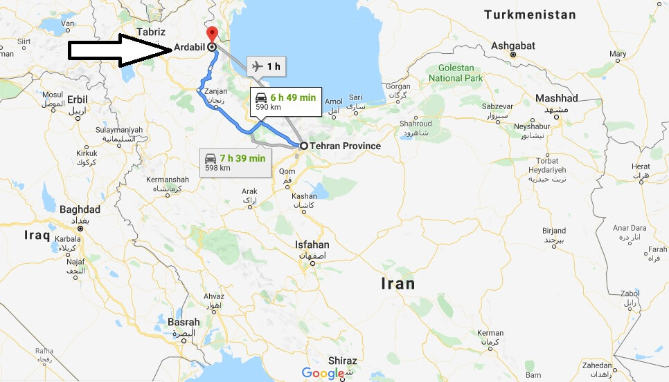 Where is Ardabil Located? What Country is Ardabil in? Ardabil Map
