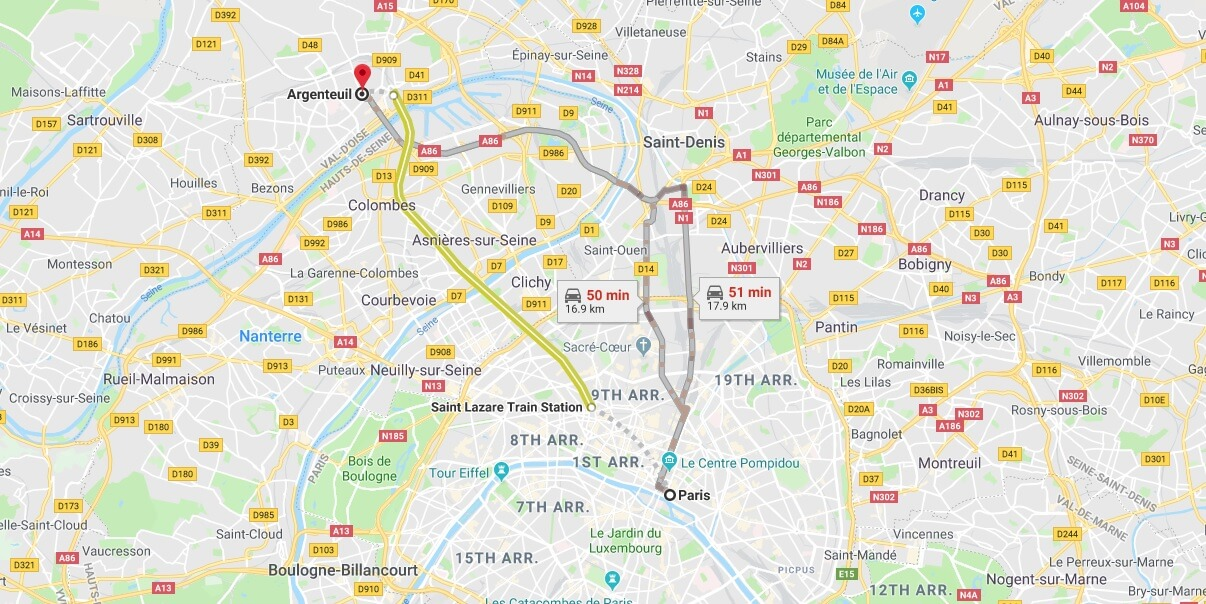 Where is Argenteuil Located? What Country is Argenteuil in? Argenteuil Map