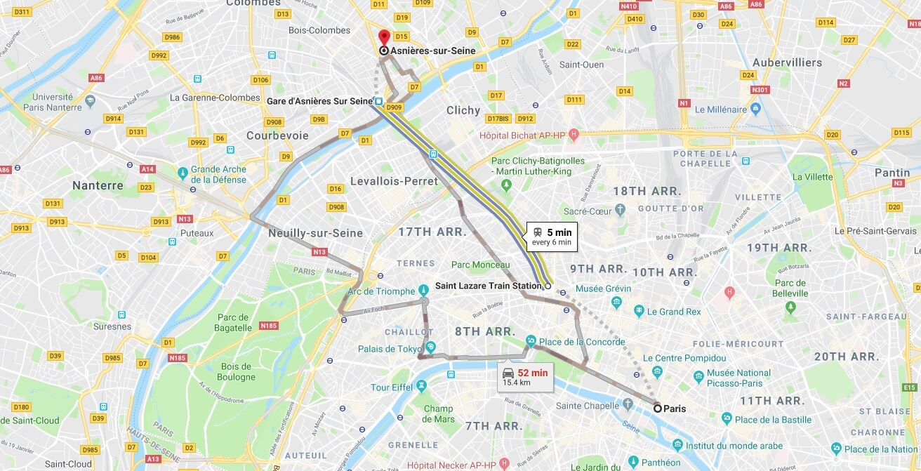 Where is Asnieres-sur-Seine Located? What Country is Asnieres-sur-Seine in? Asnieres-sur-Seine Map