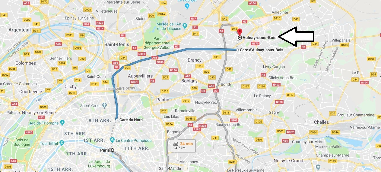 Where is Aulnay-sous-Bois Located? What Country is Aulnay-sous-Bois in? Aulnay-sous-Bois Map