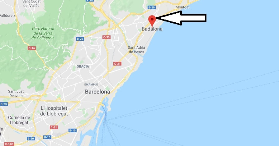Where is Badalona Located? What Country is Badalona in? Badalona Map
