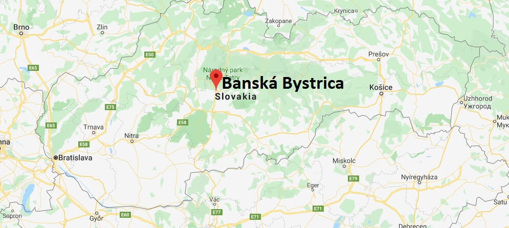 Where is Banská Bystrica Located? What Country is Banská Bystrica in? Banská Bystrica Map