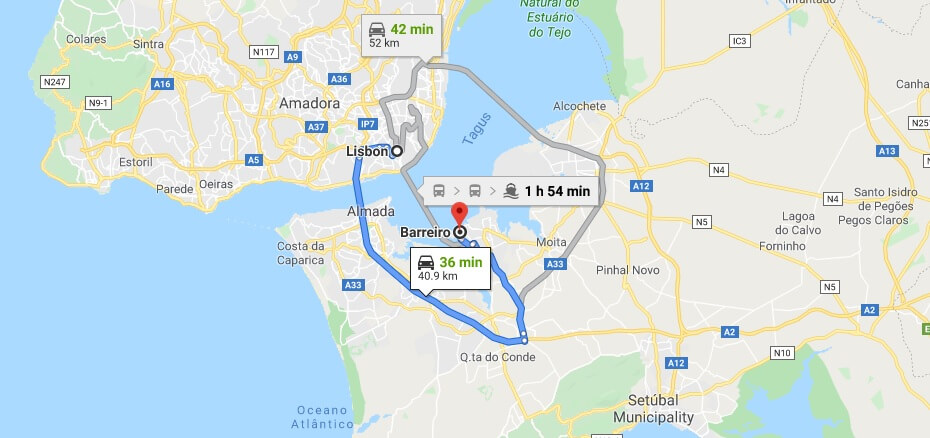 Where is Barreiro Located? What Country is Barreiro in? Barreiro Map