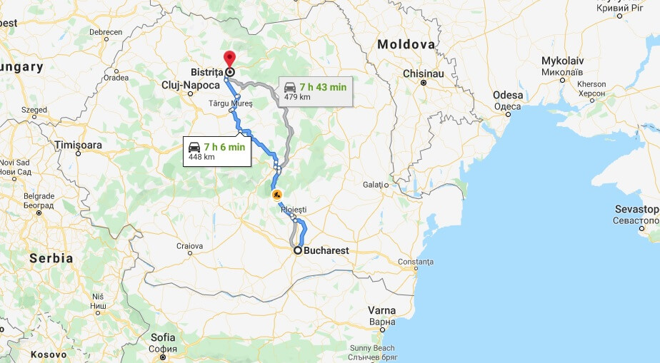 Where is Bistrita Located? What Country is Bistrita in? Bistrita Map
