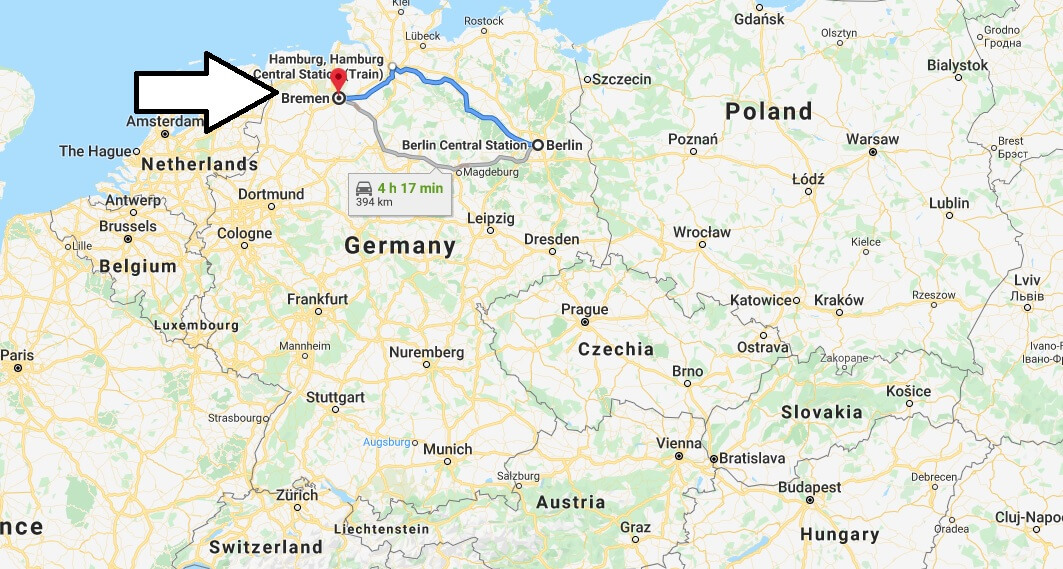 Where is Bremen Located? What Country is Bremen in? Bremen Map