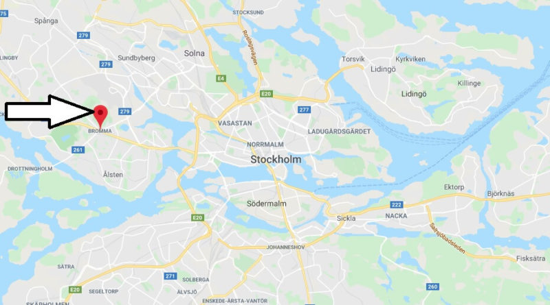 Where is Bromma Located? What Country is Bromma in? Bromma Map