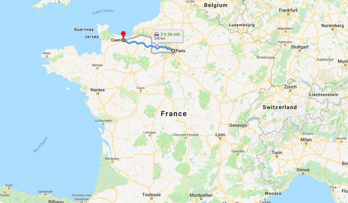 Where is Caen Located? What Country is Caen in? Caen Map