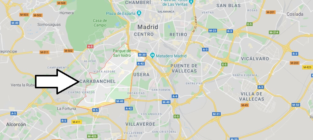 Where is Carabanchel Located? What Country is Carabanchel in? Carabanchel Map
