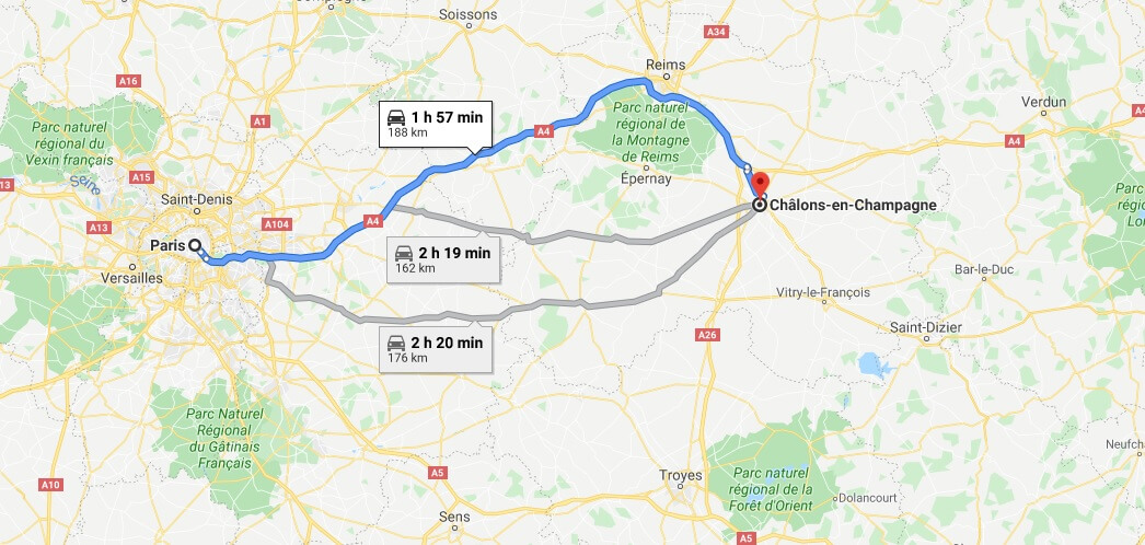 Where is Chalons-en-Champagne Located? What Country is Chalons-en-Champagne in? Chalons-en-Champagne Map