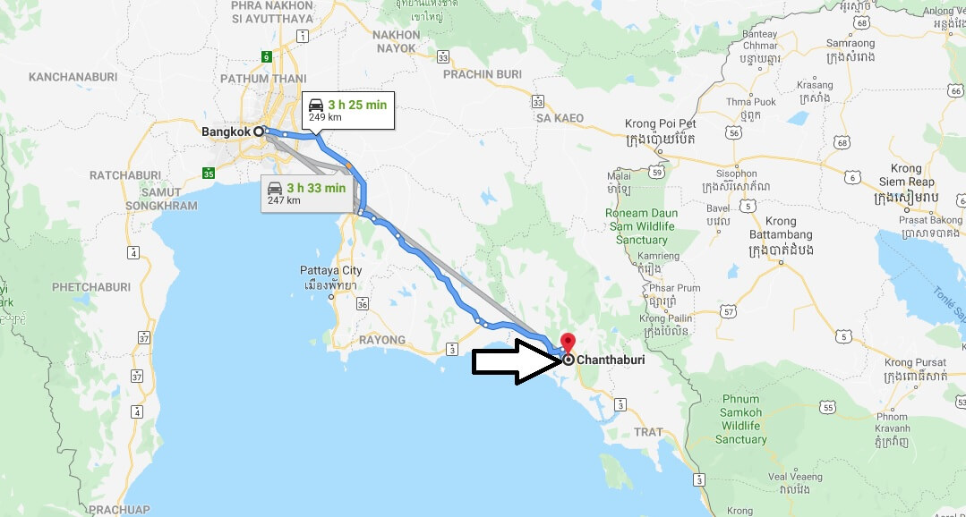 Where is Chanthaburi Located? What Country is Chanthaburi in? Chanthaburi Map