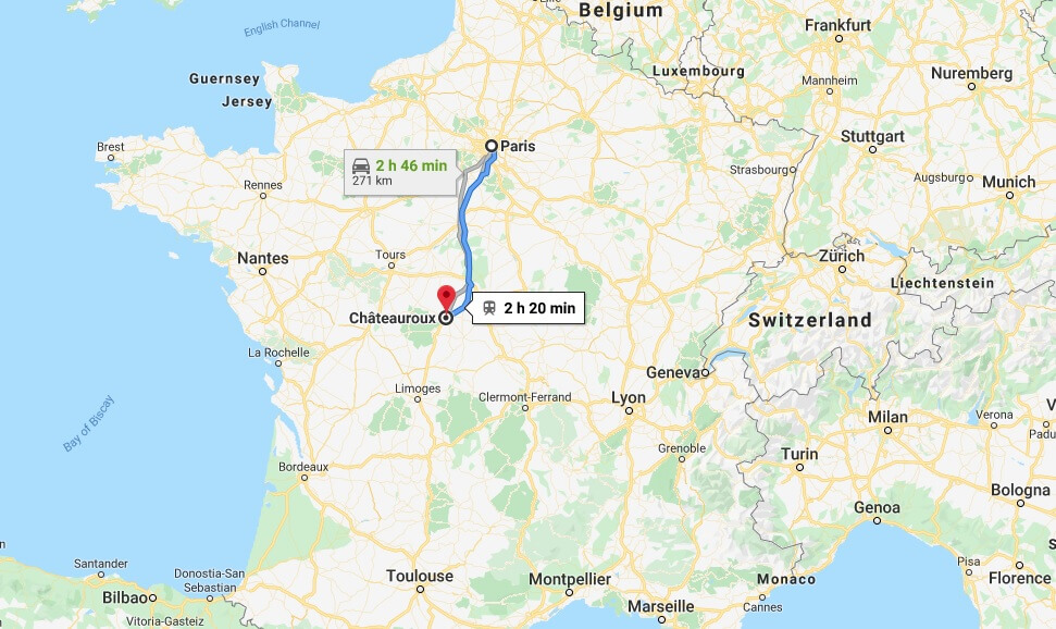 Where is Chateauroux Located? What Country is Chateauroux in? Chateauroux Map