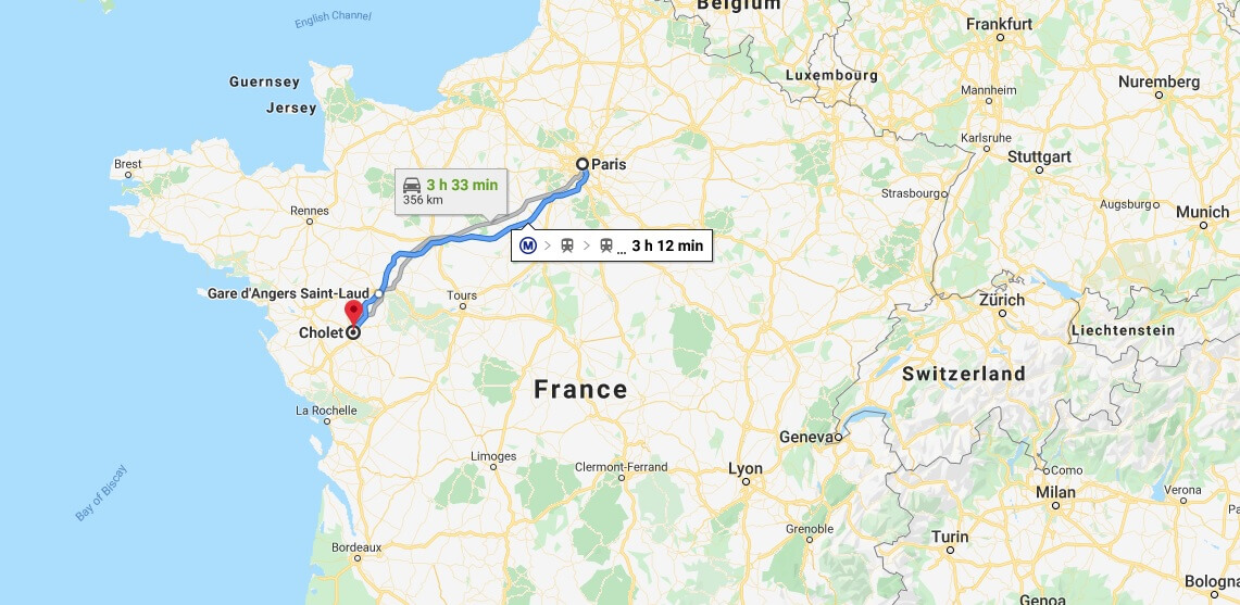 Where is Cholet Located? What Country is Cholet in? Cholet Map