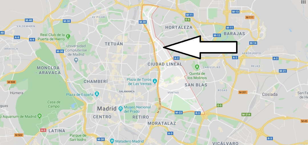 Where is Ciudad Lineal Located? What Country is Ciudad Lineal in? Ciudad Lineal Map