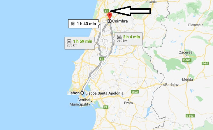 Where is Coimbra Located? What Country is Coimbra in? Coimbra Map