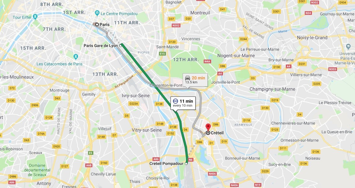 Where is Créteil Located? What Country is Créteil in? Créteil Map