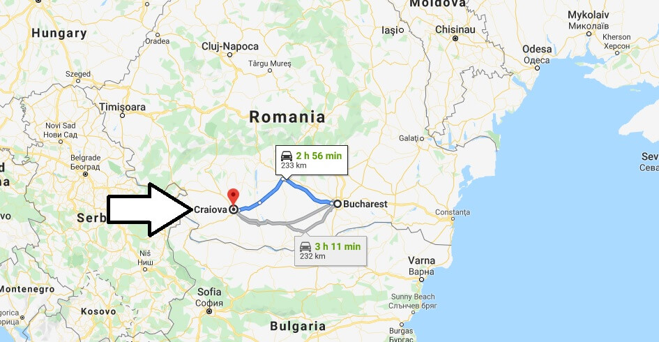 Where is Craiova Located? What Country is Craiova in? Craiova Map