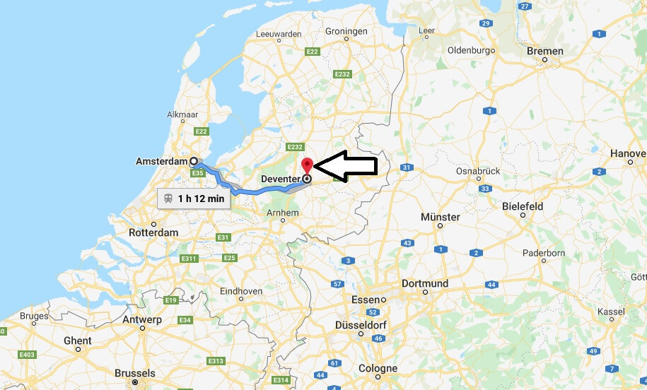 Where is Deventer Located? What Country is Deventer in? Deventer Map