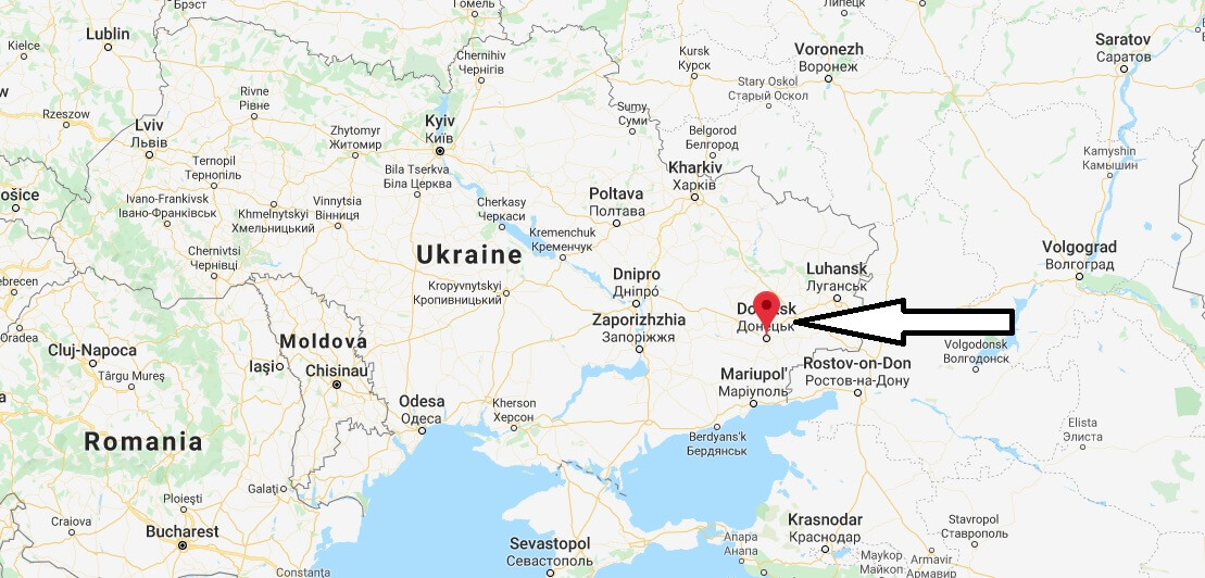 Where is Donetsk Located? What Country is Donetsk in? Donetsk Map