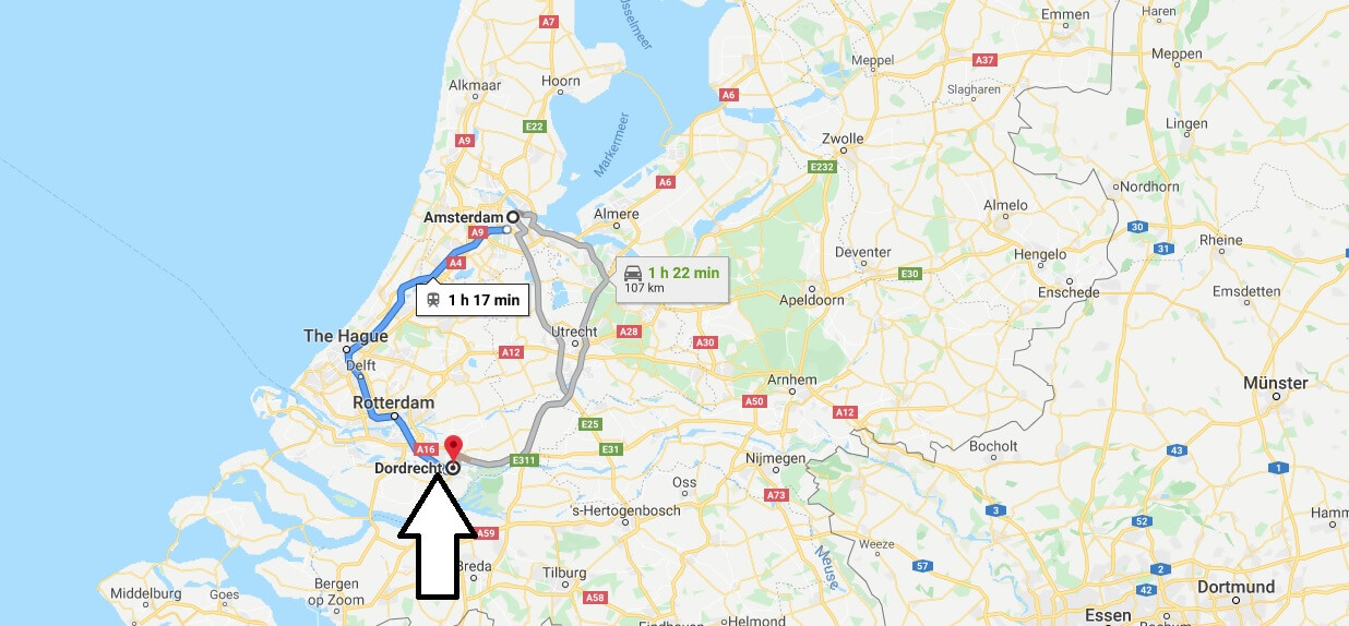 Where is Dordrecht Located? What Country is Dordrecht in? Dordrecht Map
