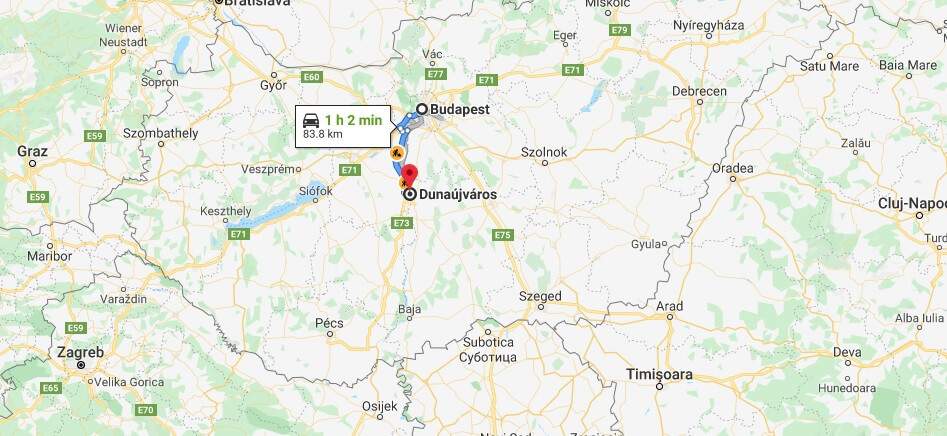 Where is Dunaujvaros Located? What Country is Dunaujvaros in? Dunaujvaros Map
