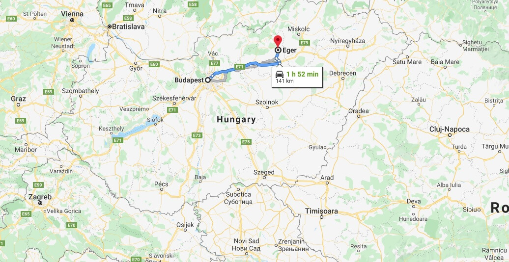 Where is Eger Located? What Country is Eger in? Eger Map