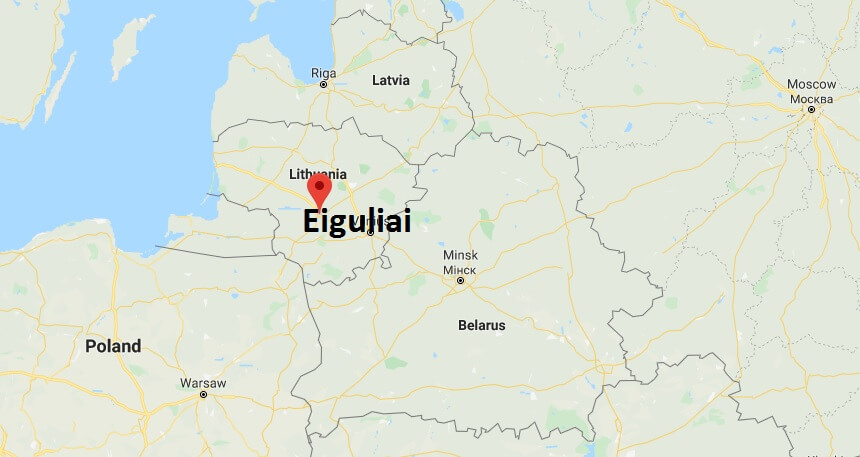 Where is Eiguliai Located? What Country is Eiguliai in? Eiguliai Map