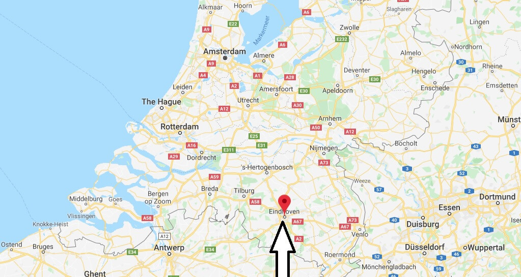 Where is Eindhoven Located? What Country is Eindhoven in? Eindhoven Map
