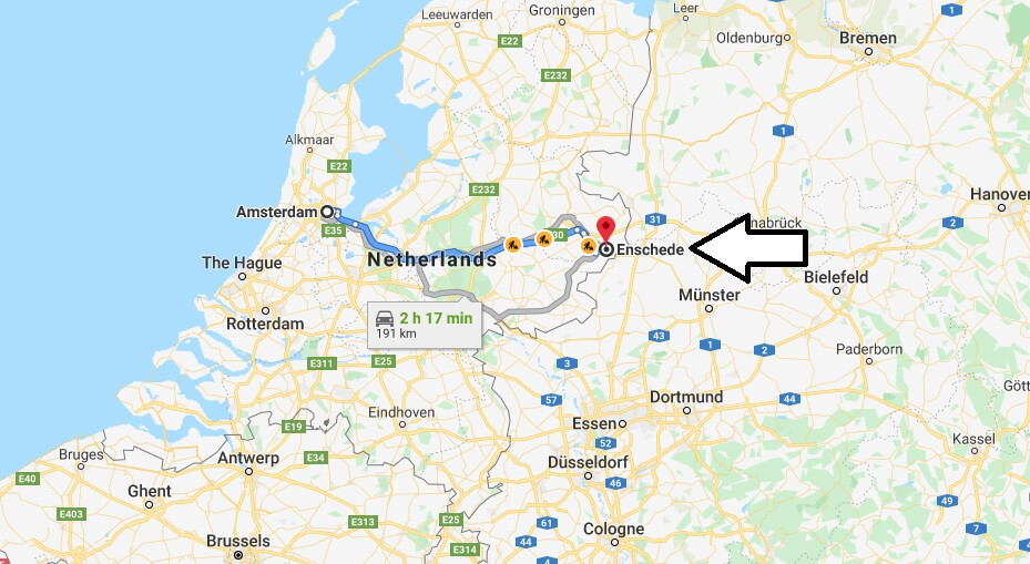 Where is Enschede Located? What Country is Enschede in? Enschede Map