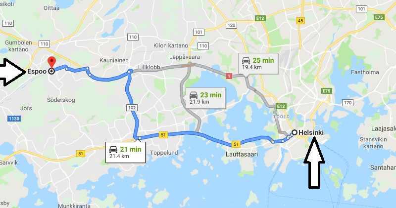Where is Espoo Located? What Country is Espoo in? Espoo Map
