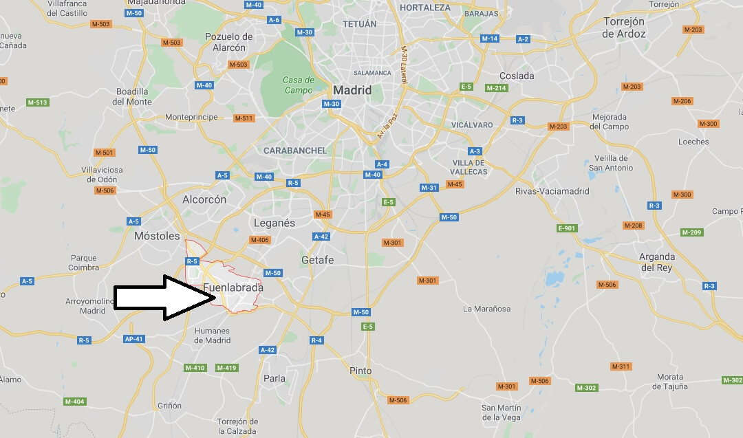 Where is Fuenlabrada Located? What Country is Fuenlabrada in? Fuenlabrada Map