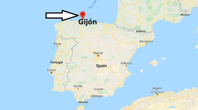 Where is Gijón Located? What Country is Gijón in? Gijón Map