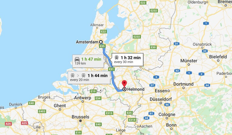Where is Helmond Located? What Country is Helmond in? Helmond Map