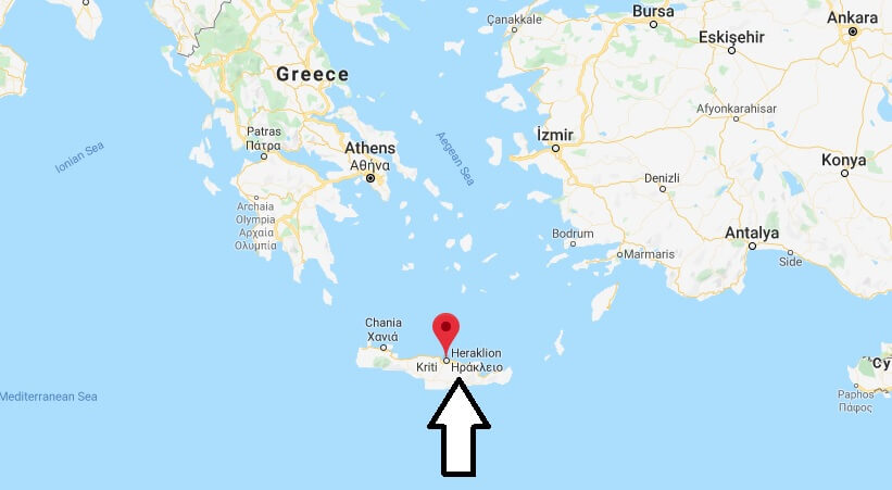 Where is Heraklion Located? What Country is Heraklion in? Heraklion Map