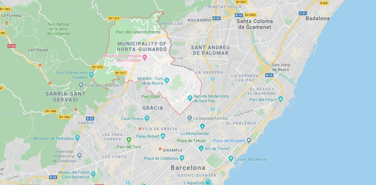 Where is Horta-Guinardo Located? What Country is Horta-Guinardo in? Horta-Guinardo Map