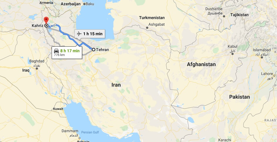 Where is Kahriz Located? What Country is Kahriz in? Kahriz Map