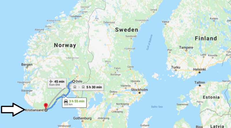 Where is Kristiansand Located? What Country is Kristiansand in? Kristiansand Map