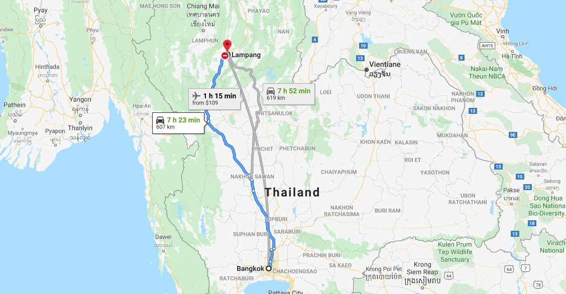Where is Lampang Located? What Country is Lampang in? Lampang Map