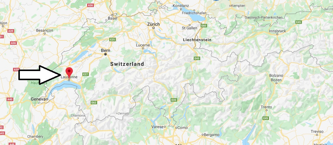Where is Lausanne Located? What Country is Lausanne in? Lausanne Map