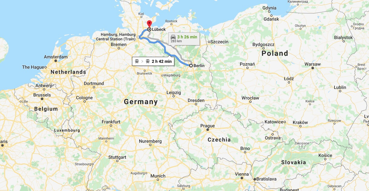 Where is Luebeck Located? What Country is Luebeck in? Luebeck Map