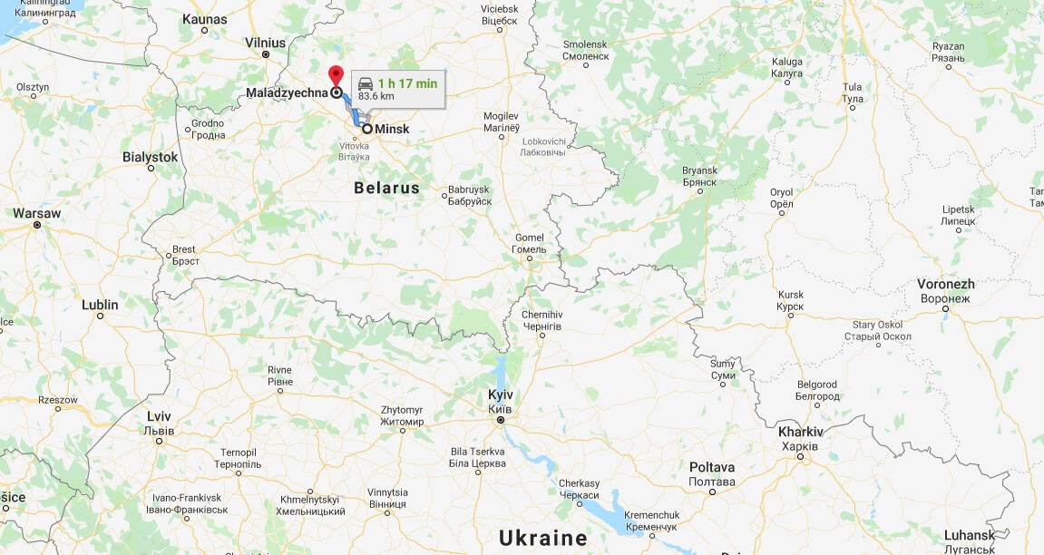Where is Maladzyechna Located? What Country is Maladzyechna in? Maladzyechna Map