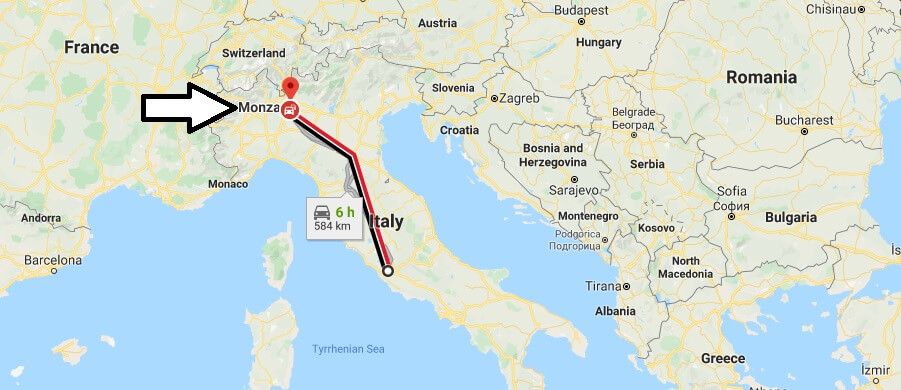 Where is Monza Located? What Country is Monza in? Monza Map
