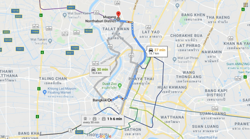 Where is Mueang Nonthaburi Located? What Country is Mueang Nonthaburi in? Mueang Nonthaburi Map