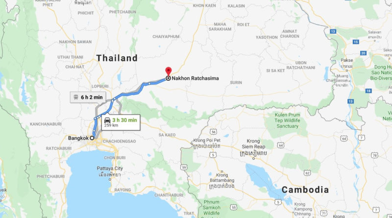 Where is Nakhon Ratchasima Located? What Country is Nakhon Ratchasima in? Nakhon Ratchasima Map