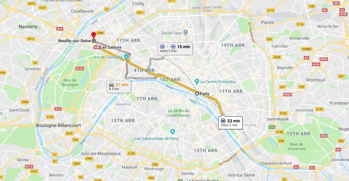 Where is Neuilly-sur-Seine Located? What Country is Neuilly-sur-Seine in? Neuilly-sur-Seine Map