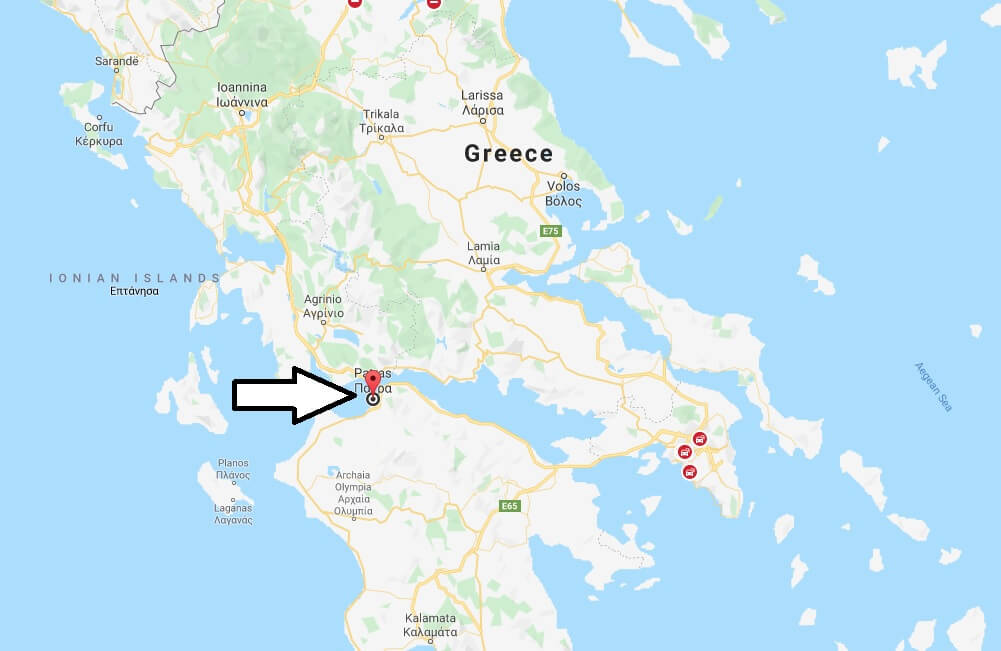 Where is Patra Located? What Country is Patra in? Patra Map