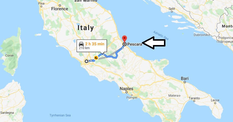 Where is Pescara Located? What Country is Pescara in? Pescara Map